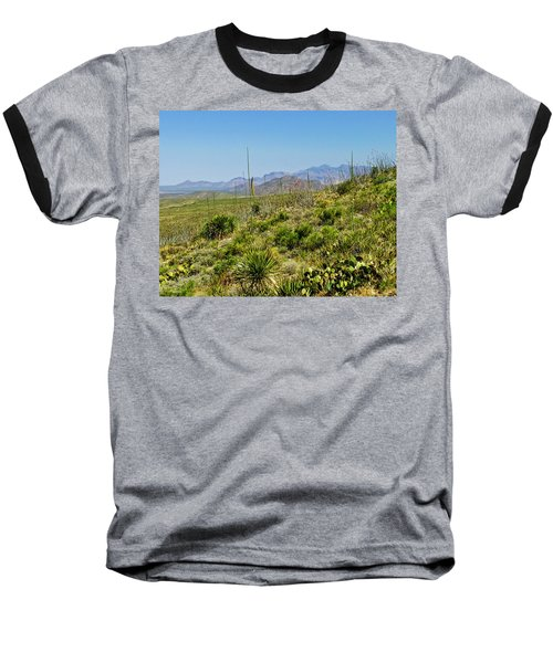 Franklin Mountains State Park Facing North Baseball T-Shirt