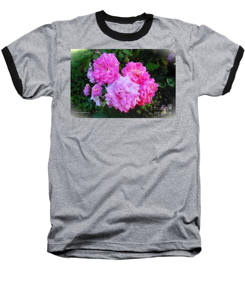Frank's Roses Baseball T-Shirt by MaryLee Parker