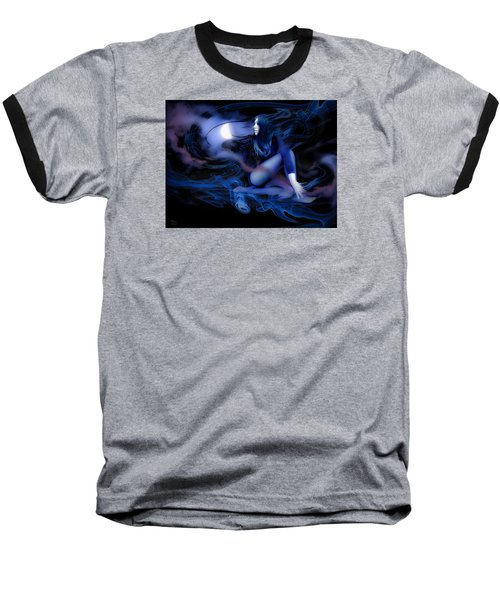 Fran's Ecliptic Moon Baseball T-Shirt by Glenn Feron