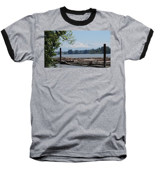 Fraser River And Mount Baker Baseball T-Shirt