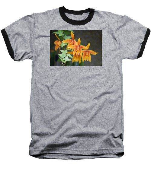 Baseball T-Shirt featuring the photograph Freckled Flora by Deborah  Crew-Johnson