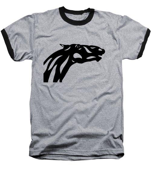 Fred - Abstract Horse Baseball T-Shirt