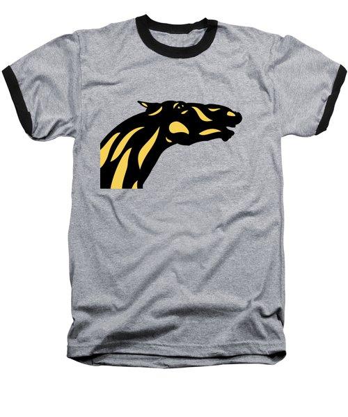 Fred - Pop Art Horse - Black, Primrose Yellow, Hazelnut Baseball T-Shirt