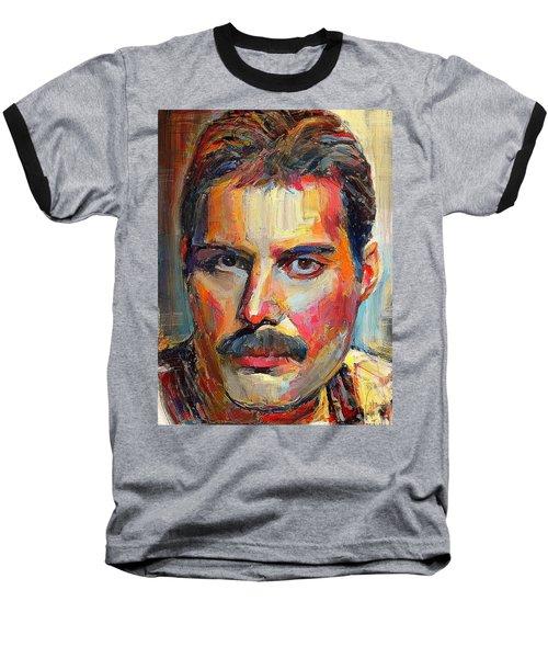 Freddie Mercury Colorful Portrait Baseball T-Shirt