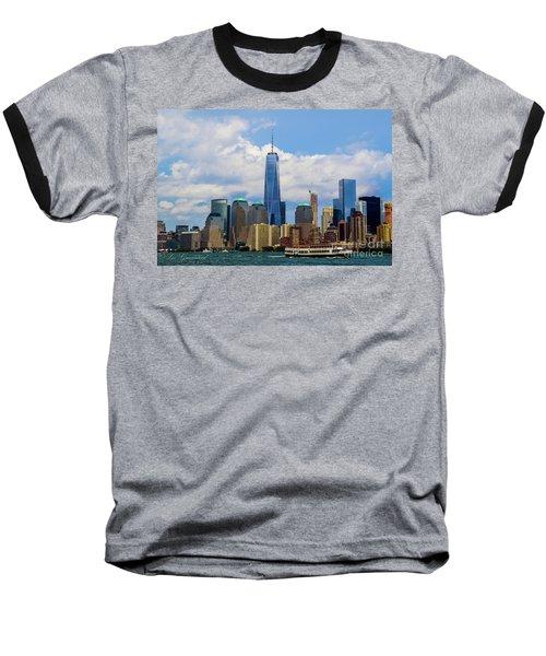 Freedom Tower Nyc Baseball T-Shirt
