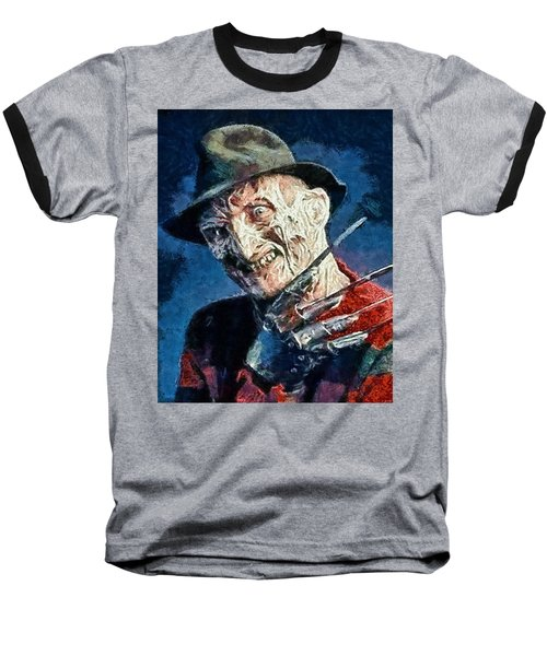 Freddy Kruegar Baseball T-Shirt by Joe Misrasi