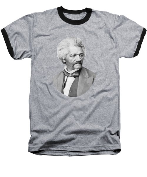 Baseball T-Shirt featuring the photograph Frederick Douglass by War Is Hell Store