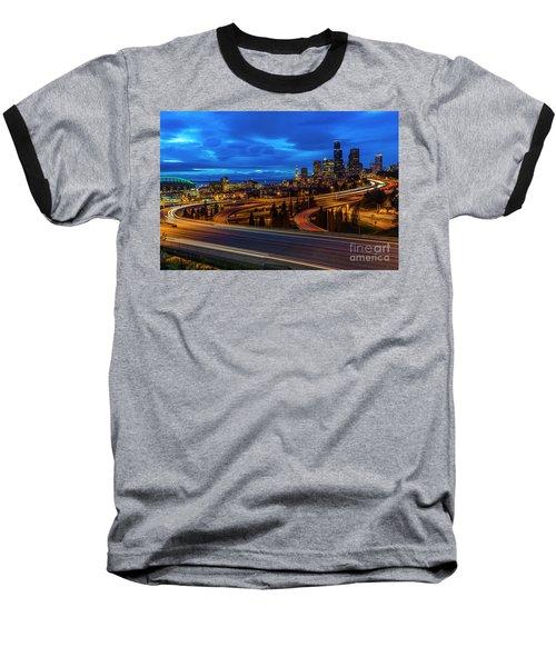 Freeway 5 North To Seattle Baseball T-Shirt