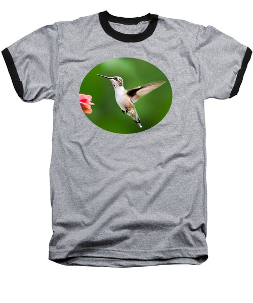Free As A Bird Hummingbird Baseball T-Shirt by Christina Rollo
