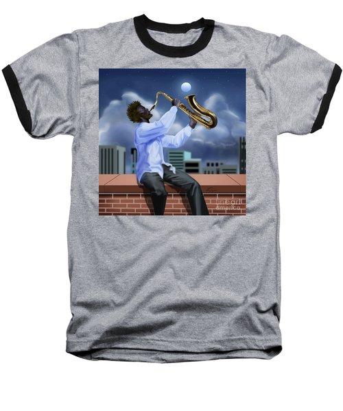 Free Jazz Moon Baseball T-Shirt