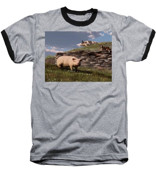 Free Range Pigs Baseball T-Shirt