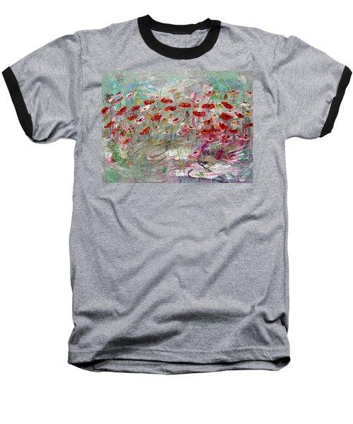 Free Wild Poppies Baseball T-Shirt