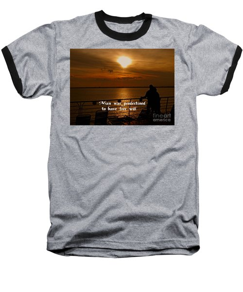 Baseball T-Shirt featuring the photograph Free Will by Gary Wonning