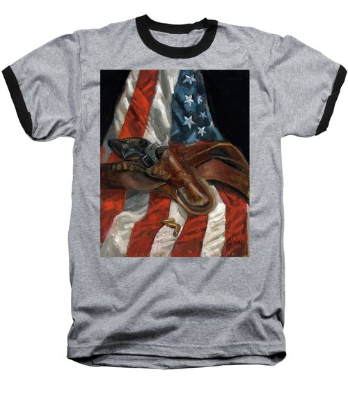 Freedom Baseball T-Shirt by Billie Colson