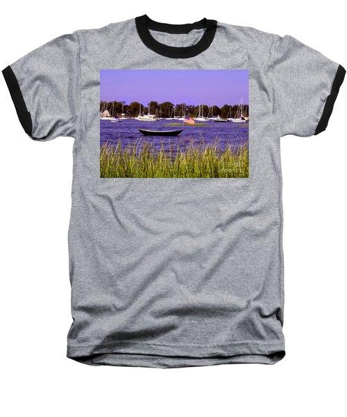 Freedom Bristol Harbor Rhode Island Baseball T-Shirt by Tom Prendergast
