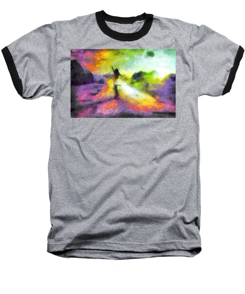 Freedom In The Rainbow Baseball T-Shirt by Mario Carini