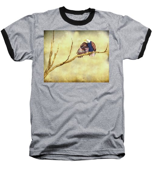 Baseball T-Shirt featuring the photograph Freedom by James BO Insogna