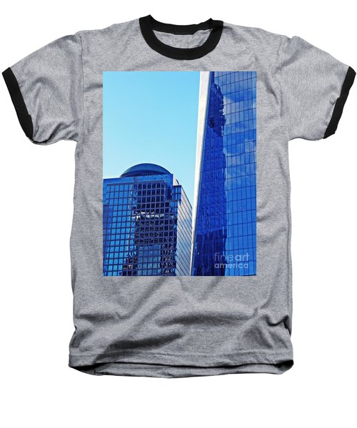 Baseball T-Shirt featuring the photograph Freedom Tower And 2 World Financial Center by Sarah Loft
