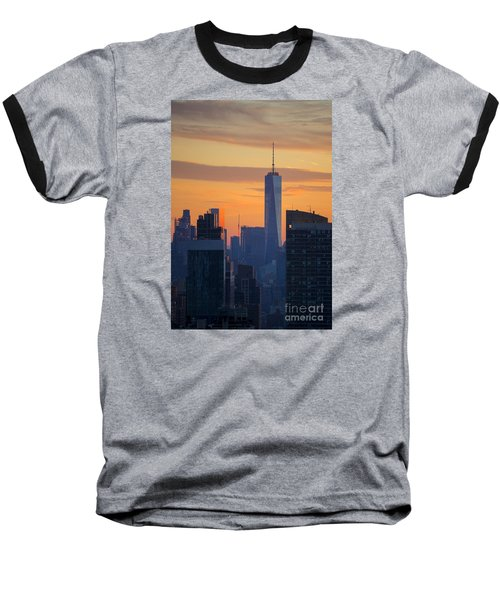 Freedom Tower At Sunset Baseball T-Shirt by Diane Diederich