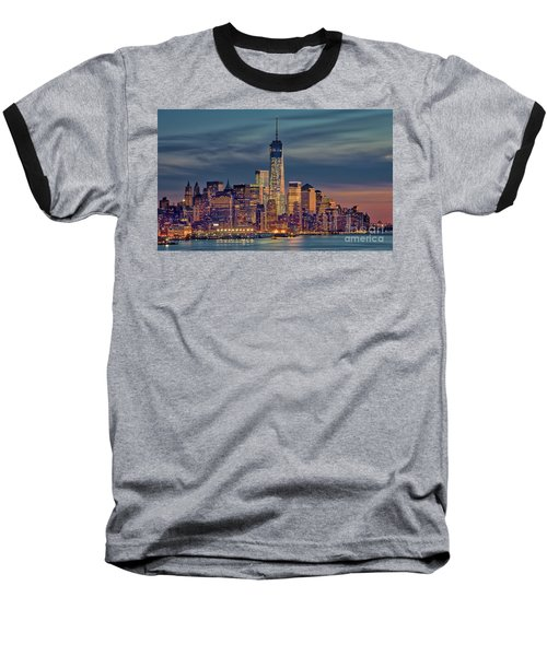 Freedom Tower Construction End Of 2013 Baseball T-Shirt