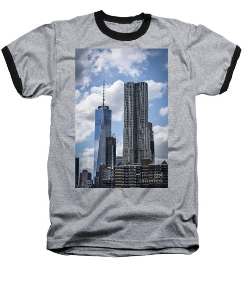 Baseball T-Shirt featuring the photograph Freedom Tower by Judy Wolinsky