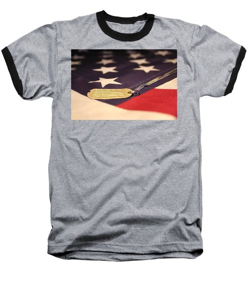 Baseball T-Shirt featuring the photograph Freedom's Price by Laddie Halupa