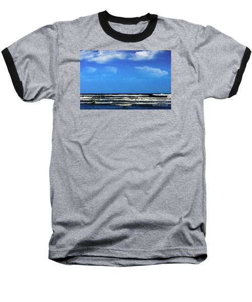 Freeport Texas Seascape Digital Painting A51517 Baseball T-Shirt