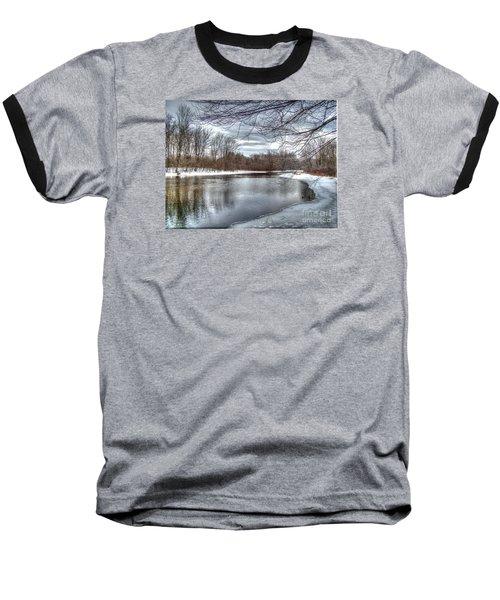 Freezing Up Baseball T-Shirt by Betsy Zimmerli