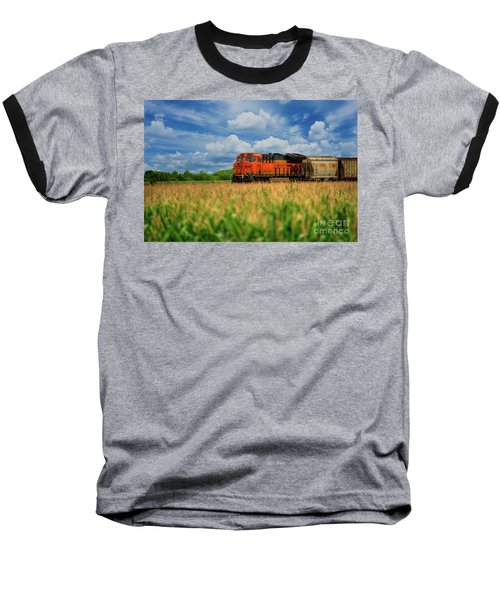 Freight Train Baseball T-Shirt by Kelly Wade