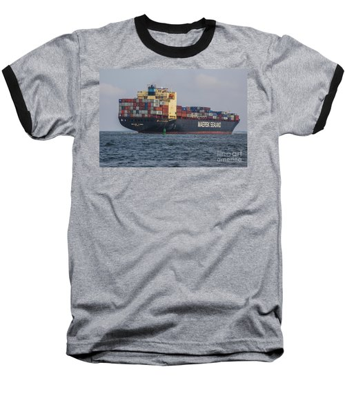 Freighter Headed Out To Sea Baseball T-Shirt