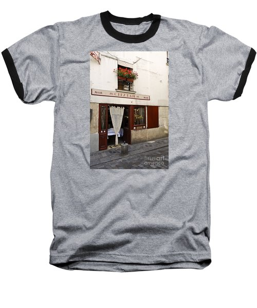 French Bistro Baseball T-Shirt by Perry Van Munster