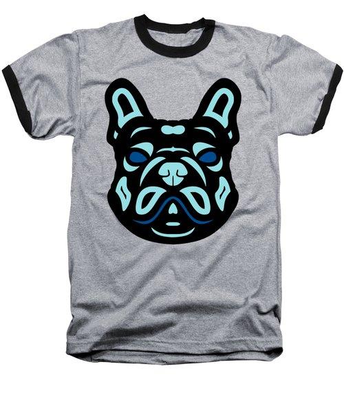 French Bulldog Francis - Dog Design - Hazelnut, Island Paradise, Lapis Blue Baseball T-Shirt