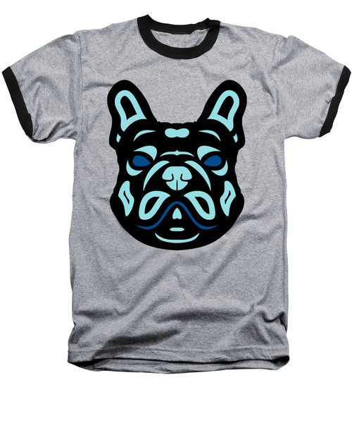 French Bulldog Francis - Dog Design - Hazelnut, Island Paradise, Lapis Blue Baseball T-Shirt