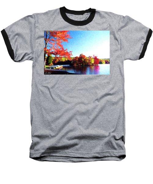 French Creek Fall 020 Baseball T-Shirt by Scott McAllister