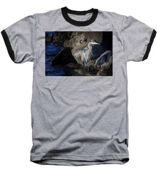 Baseball T-Shirt featuring the photograph French Creek Heron by Randy Hall