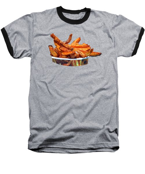 French Fries On The Boards Baseball T-Shirt