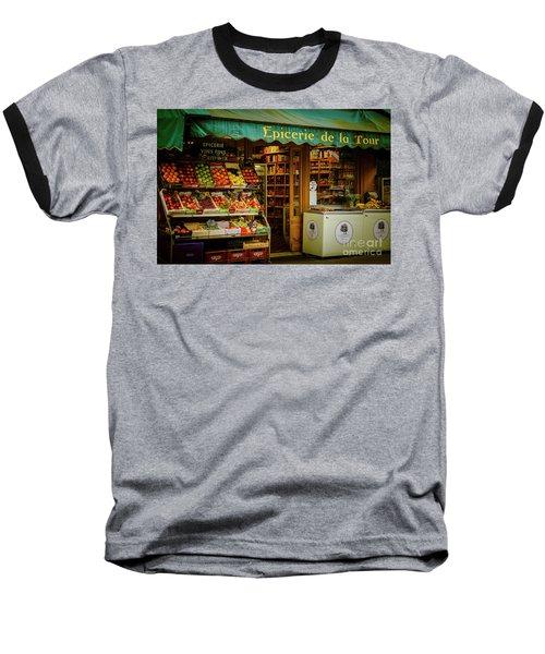 French Groceries Baseball T-Shirt