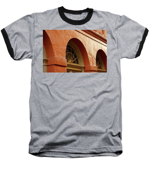 Baseball T-Shirt featuring the photograph French Quarter Arches by KG Thienemann