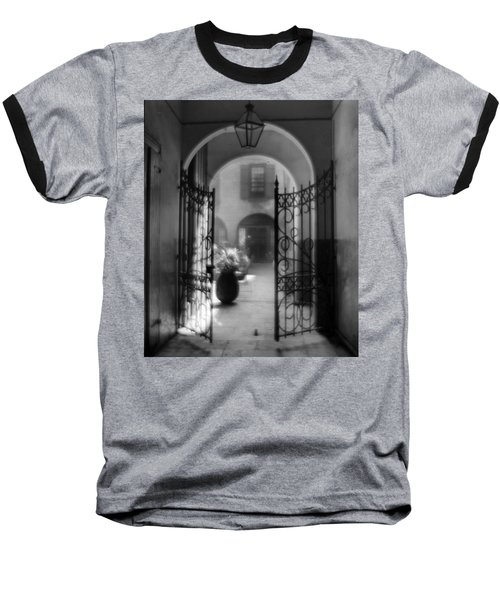 French Quarter Courtyard Baseball T-Shirt
