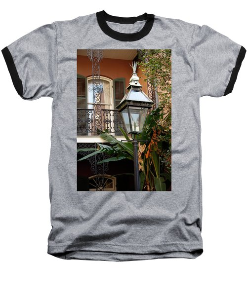 Baseball T-Shirt featuring the photograph French Quarter Courtyard by KG Thienemann