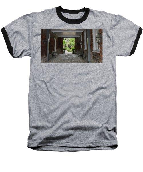 French Quarter Courtyard Baseball T-Shirt by Mark Barclay
