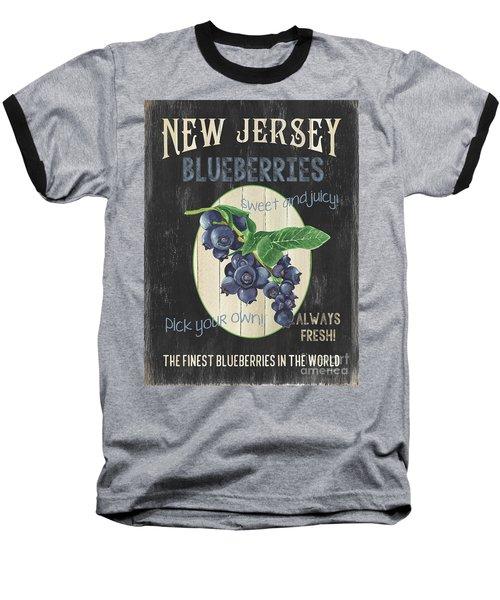 Baseball T-Shirt featuring the painting Fresh Berries 1 by Debbie DeWitt