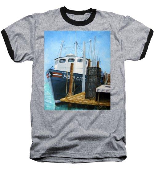 Fresh Catch Fishing Boat Baseball T-Shirt