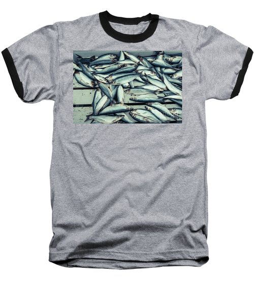 Baseball T-Shirt featuring the photograph Fresh Caught Herring Fish by Edward Fielding