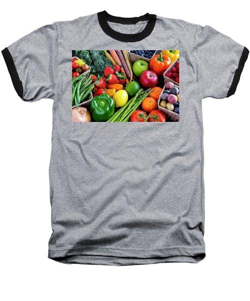 Fresh From The Farm Baseball T-Shirt by Teri Virbickis