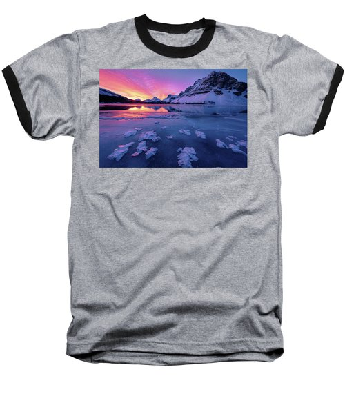 Fresh Ice On Bow Lake Baseball T-Shirt