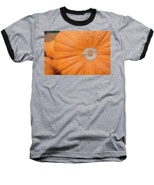 Baseball T-Shirt featuring the photograph Fresh Organic Orange Giant Pumking Harvesting From Farm At Farme by Jingjits Photography