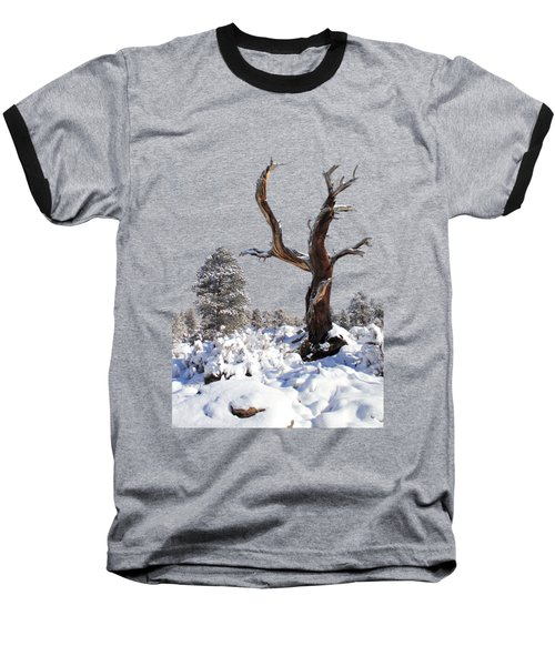 Baseball T-Shirt featuring the photograph Fresh Snow by Shane Bechler