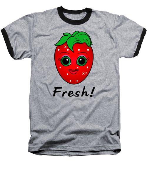 Fresh Strawberry Baseball T-Shirt by A