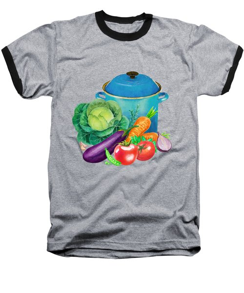 Fresh Vegetable Bounty Baseball T-Shirt by Little Bunny Sunshine